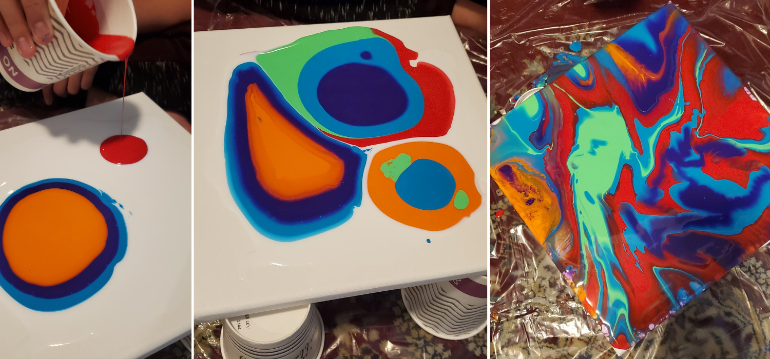 How to do a paint puddle pour
