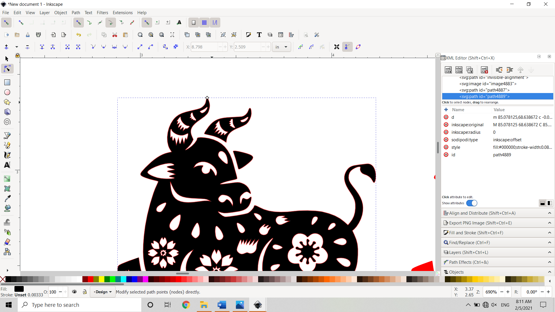 Dynamic Offset of Vector Image