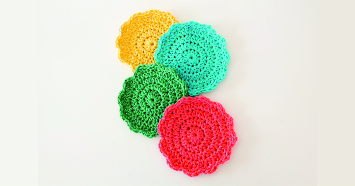 scalloped coasters