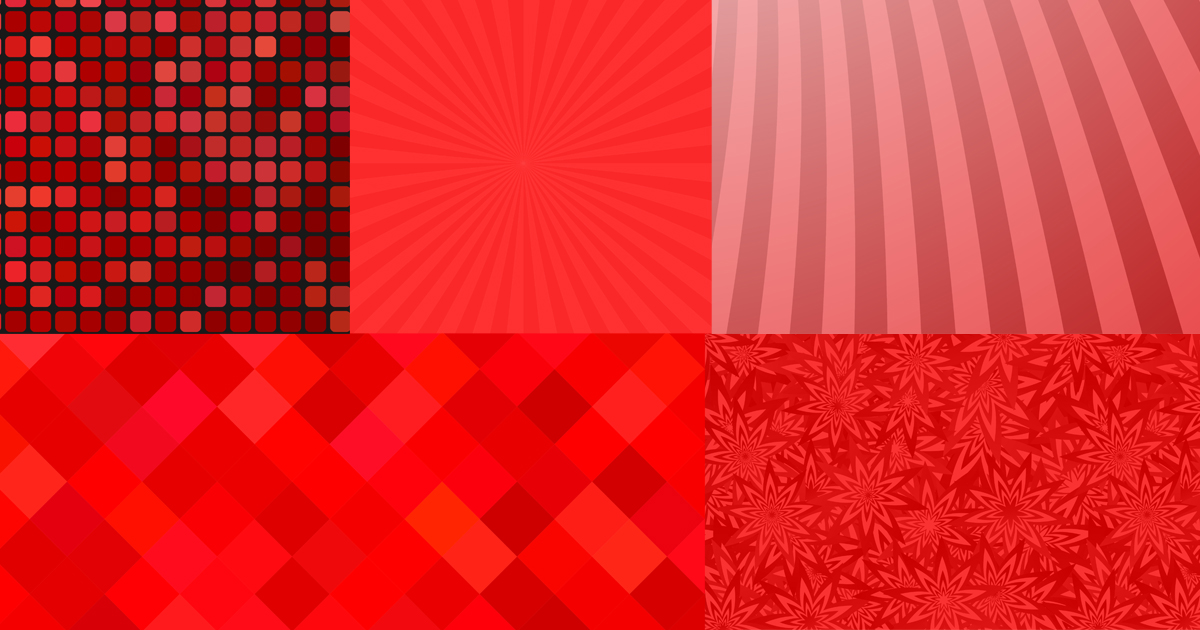 Examples of monochromatic palettes for red.