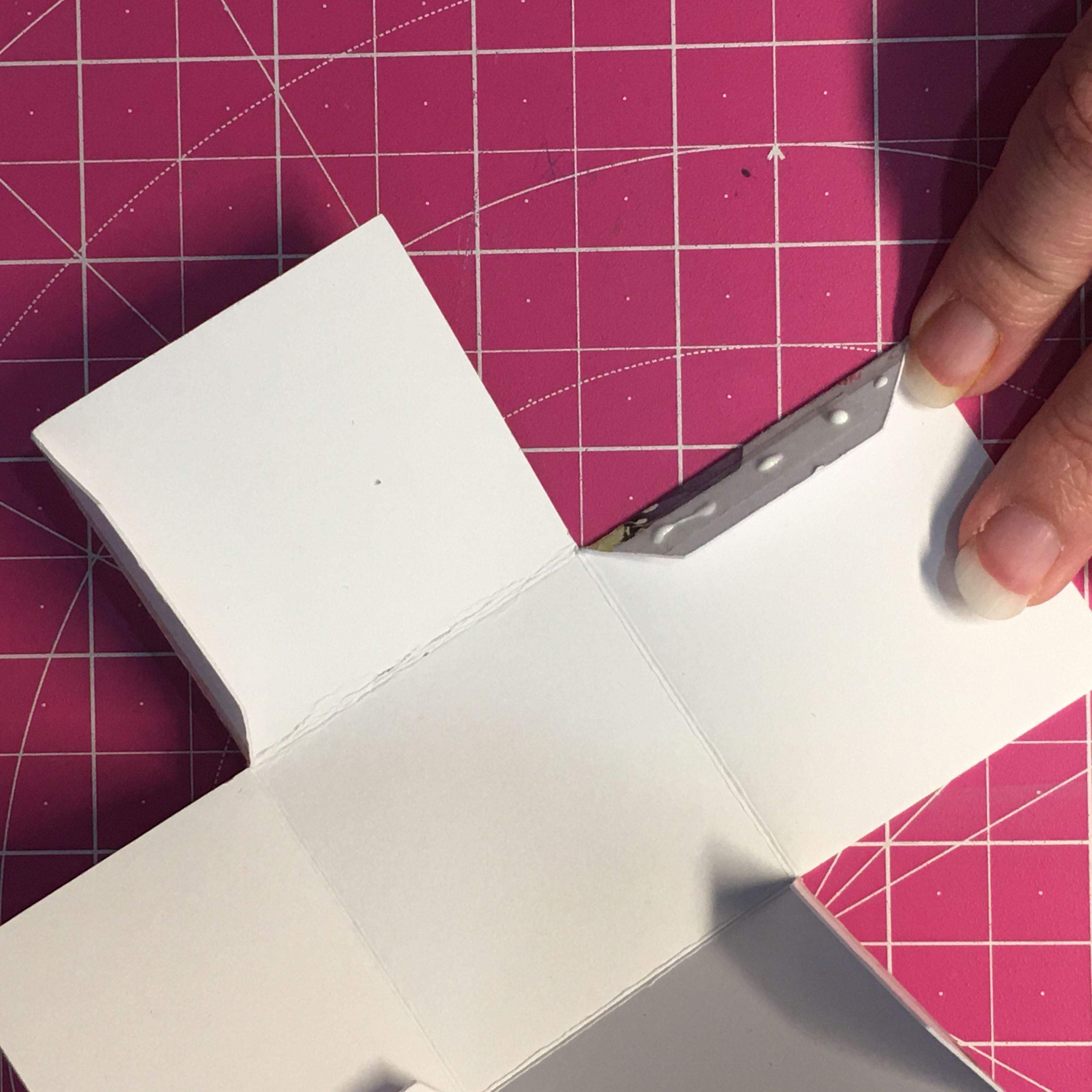 Gluing the tabs