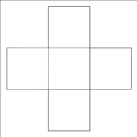Shows the layout of the initial 5 squares