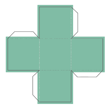 Showing the printable area of the base template