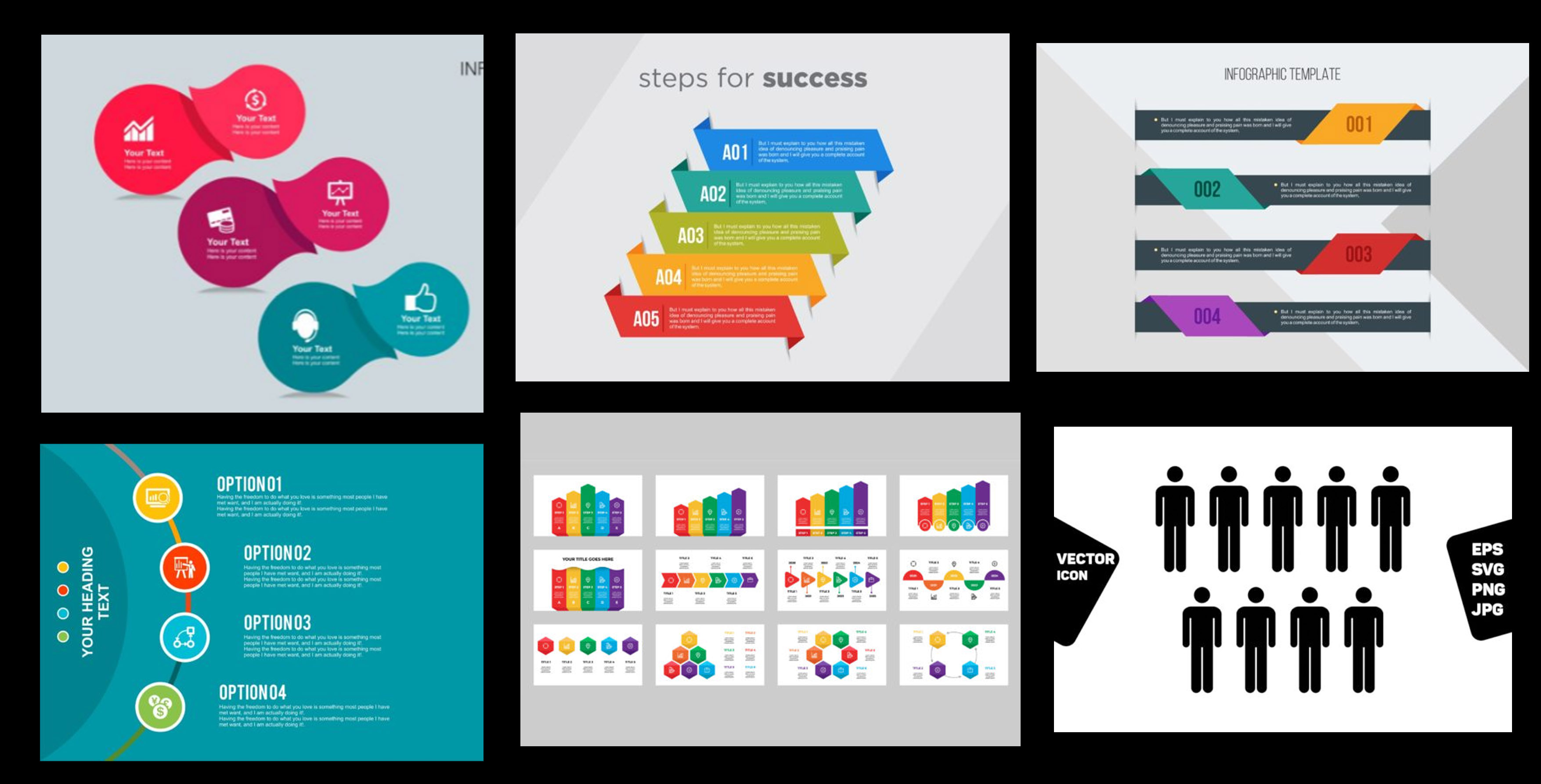 Many Infographic Elements On Creative Fabrica
