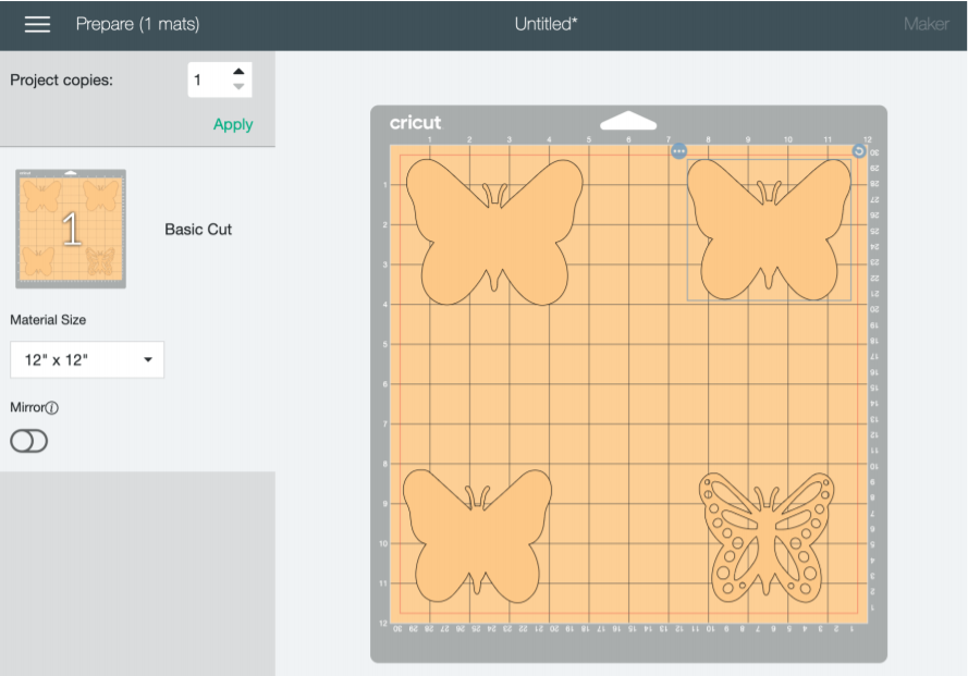 Editing Butterfly SVGs on Cricut Design Space