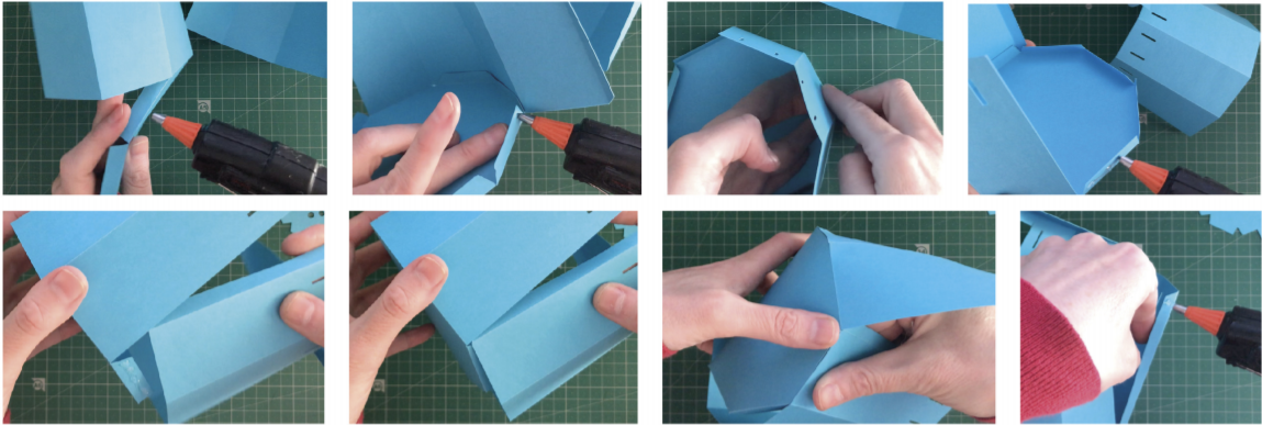 Folding card for 3D watering can