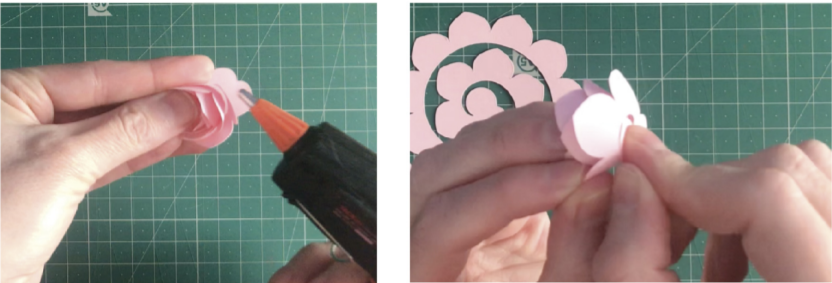 Quilling a paper flower