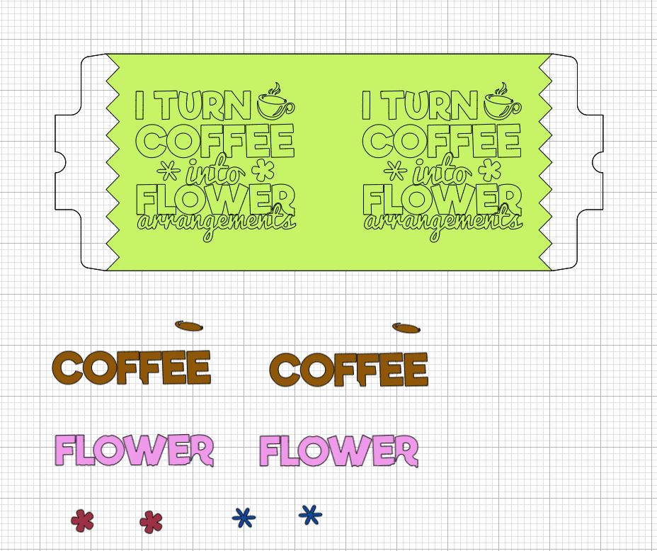 Mug template attached with layers