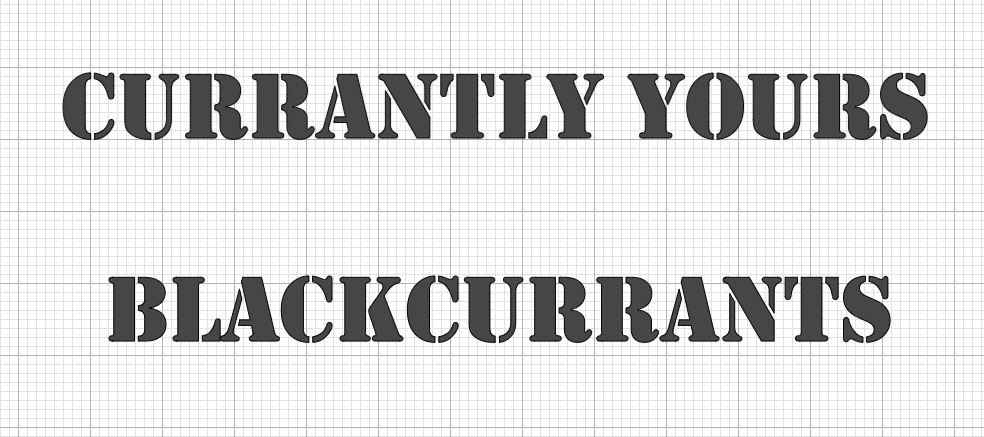 Currantly Yours text in Design Space