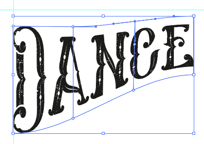 Screenshot of a word with a mesh applied and being edited