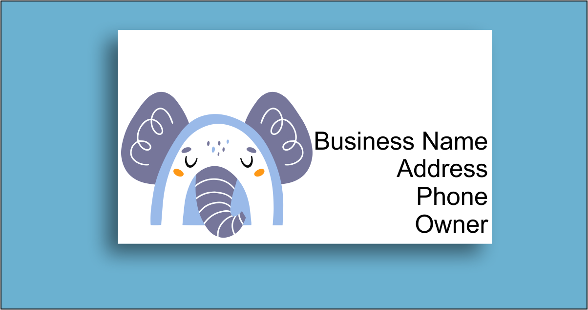 commercial use business card