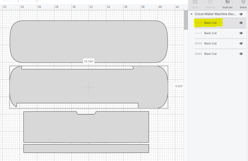 removing pieces of template