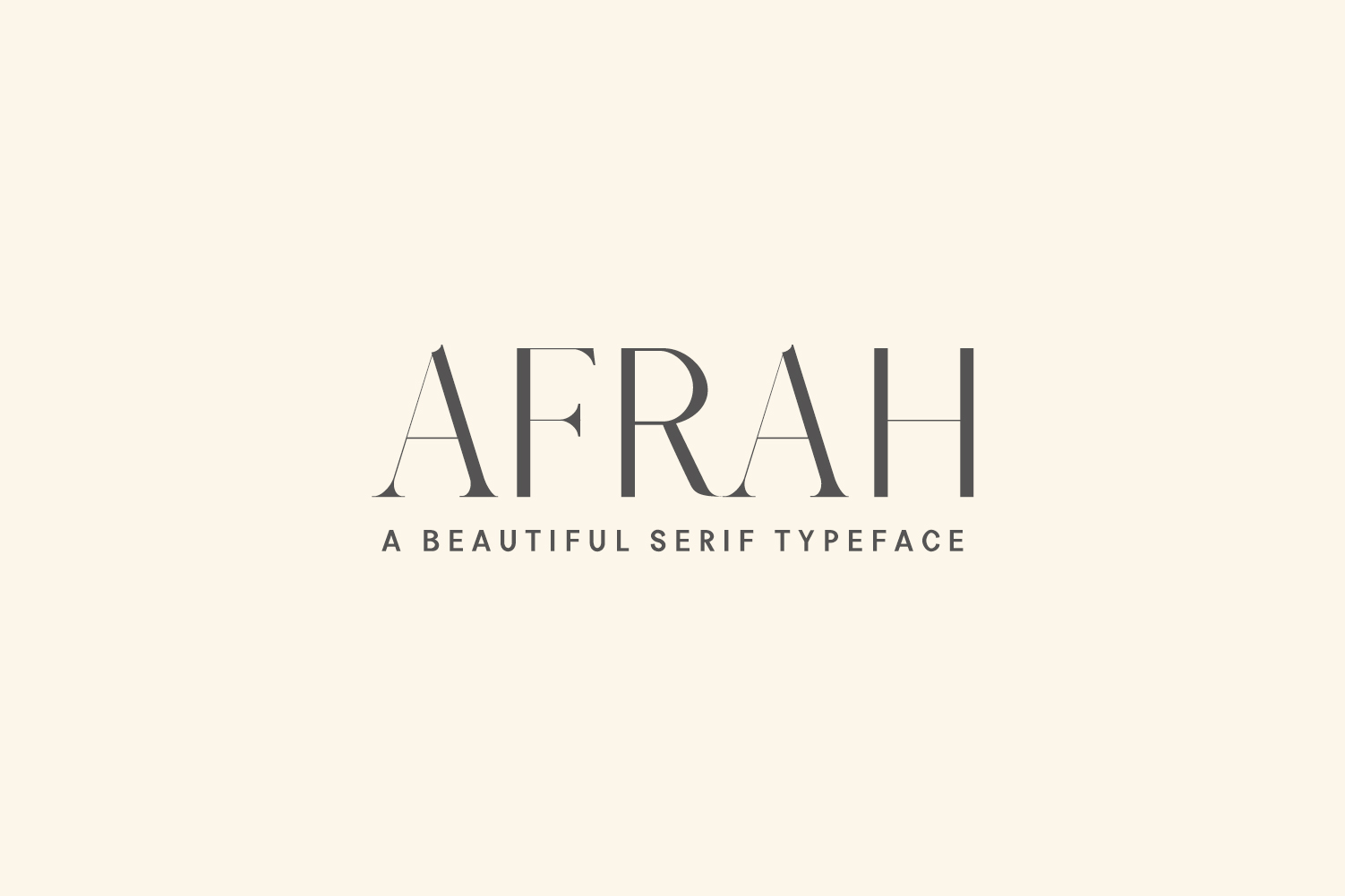 An example of the serif typeface called Afrah