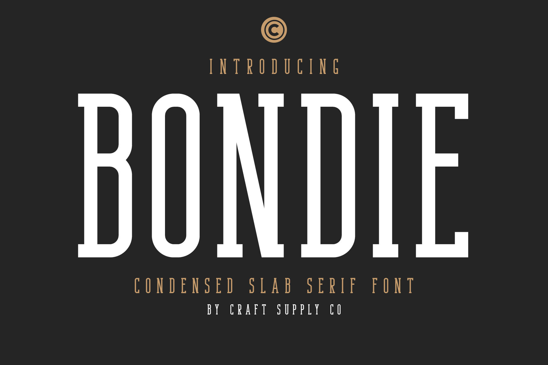 An example of a slab serif typeface called Bondie