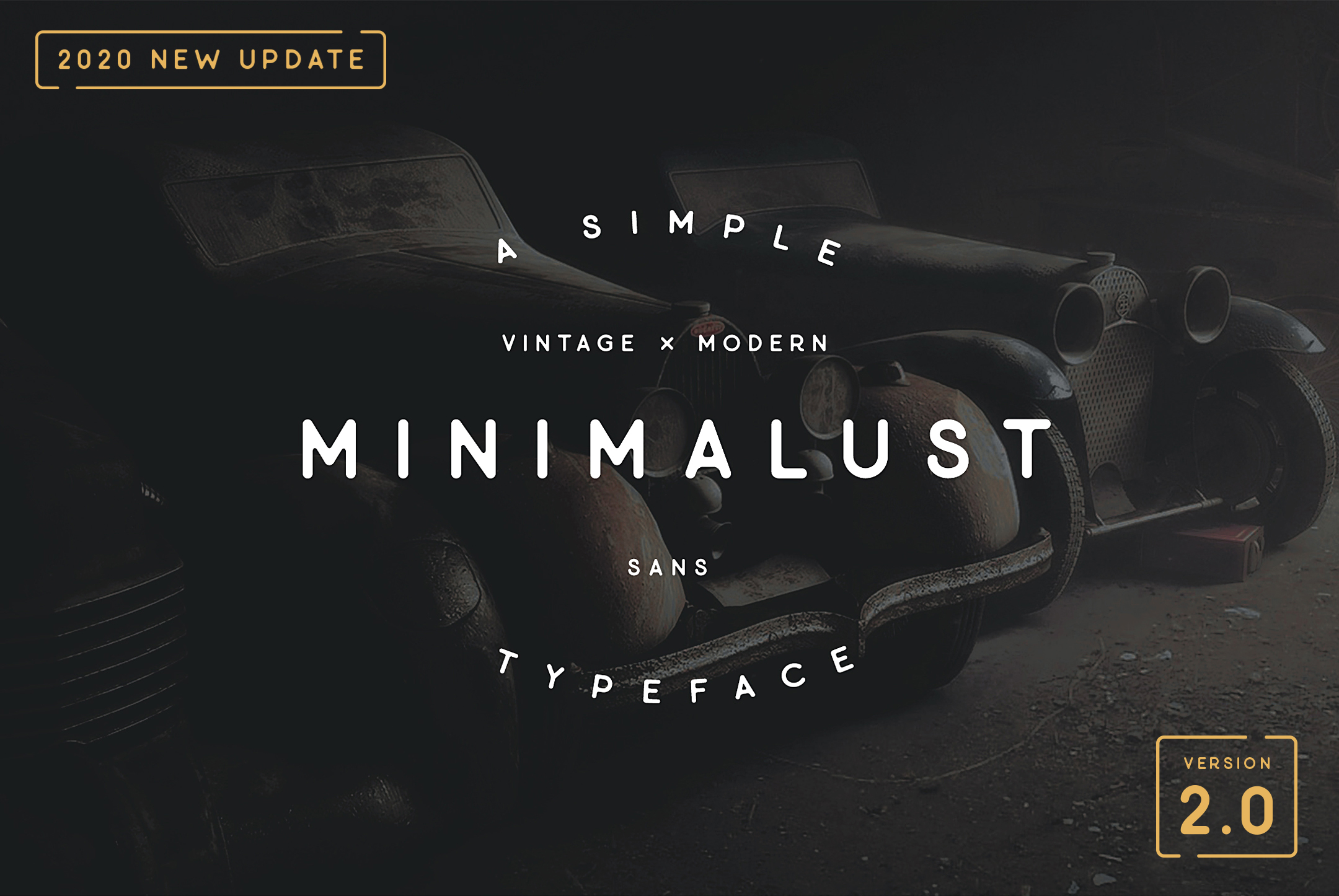 An example of a sans serif font style called Minimalust