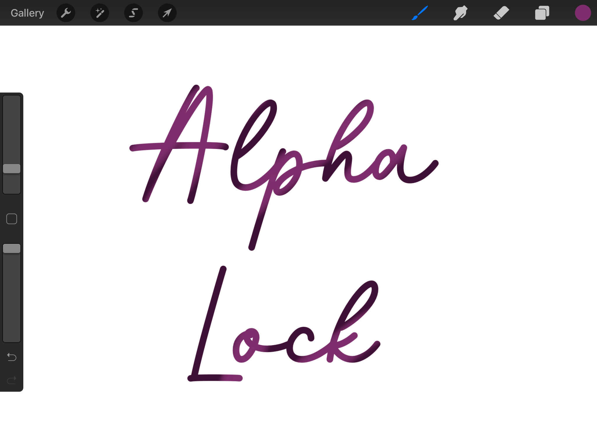 After using alpha lock to add colour in Procreate.