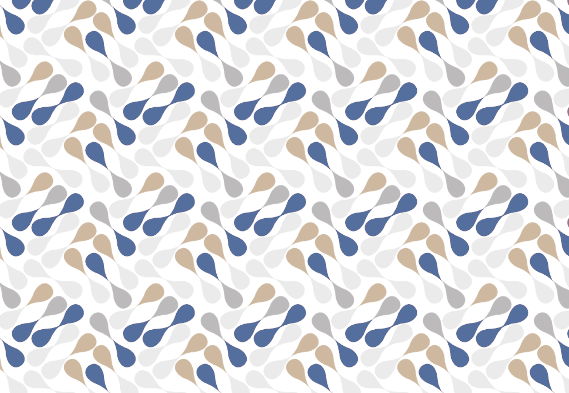 A design that shows rhythm through the repeated use of shape design elements