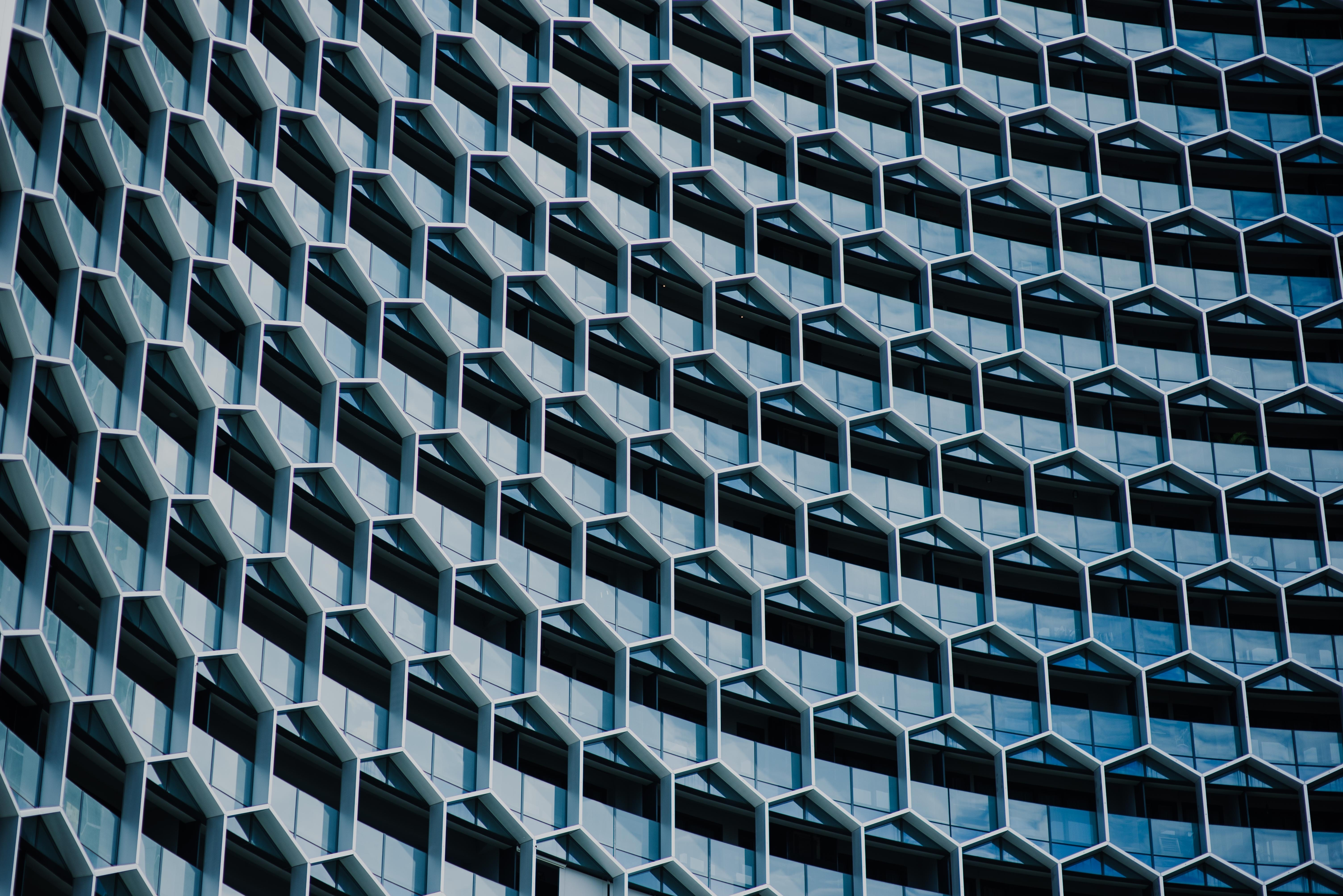 A building showing repetition through the shapes used in its design
