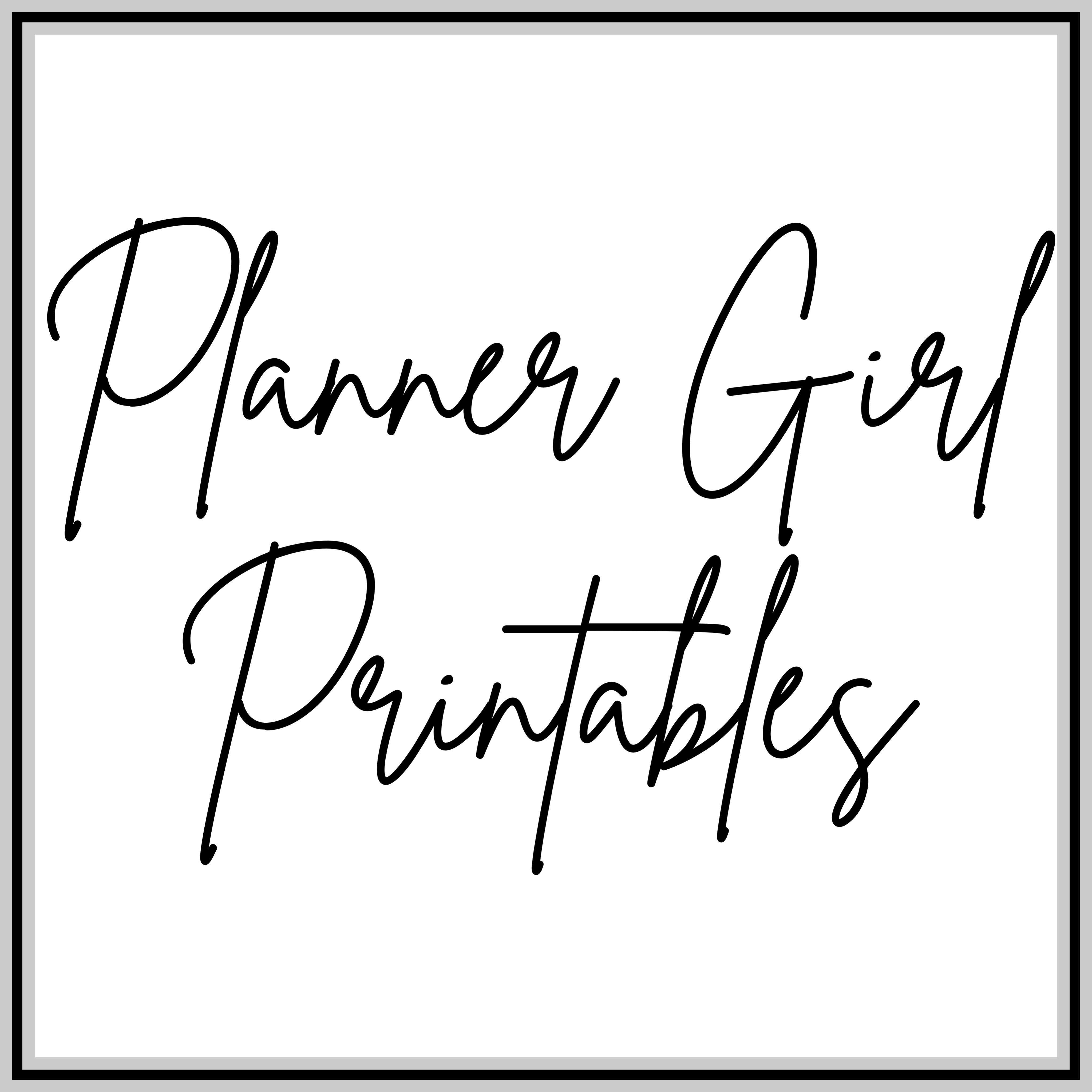 PlannerGirlPrintables's profile picture